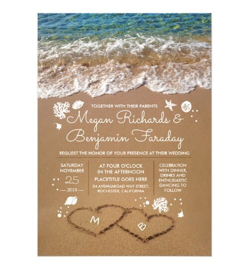 Crystal Clear Sea Water and Sand Hearts