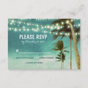 String Lights Palms Beach Wedding Collection