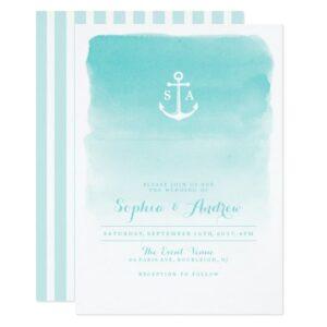 Watercolor Nautical Anchor Beach Wedding Suite