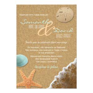 Beach Sand and Shells Wedding