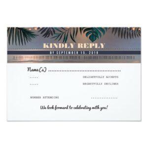Tropical Destination Wedding Boarding Pass Tickets
