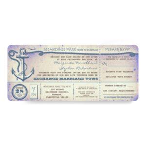 Nautical Anchor Wedding Boarding Pass Collection