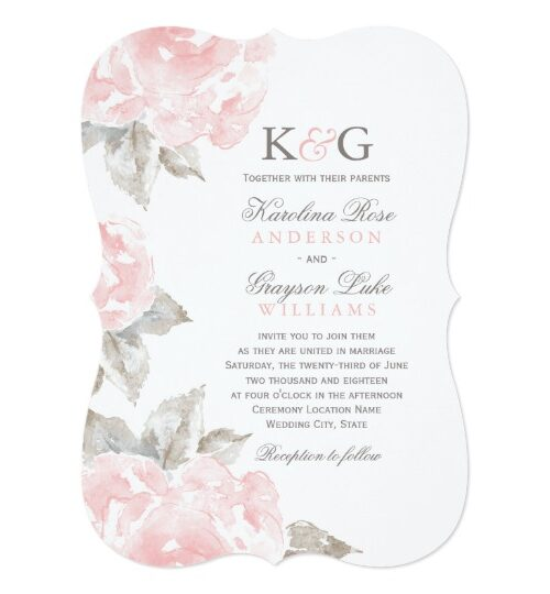 Wedding Collection   Pink Watercolor Roses