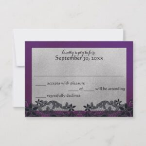 Black Floral and Purple Wedding