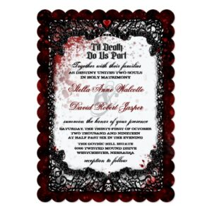 Blood Splattered Halloween Wedding Collection