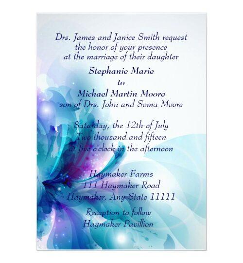 Blue & Purple Abstract Wedding Set