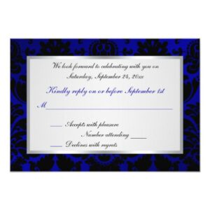 Assorted Cobalt Blue Wedding Designs