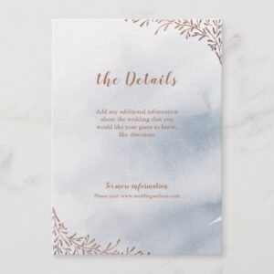 Dusty blue calligraphy rustic floral wedding suite