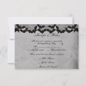 Elegant Gothic Bat Lace Posh Wedding