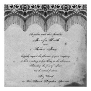Elegant Gothic Lace Posh Wedding