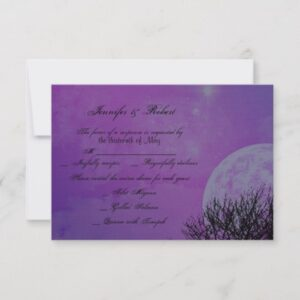 Elegant Purple Gothic Night Posh Wedding