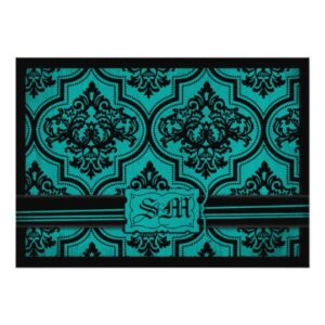 Gothic Brocade Teal