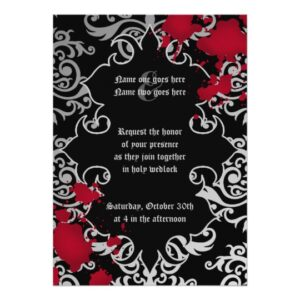 Gothic vampire theme wedding
