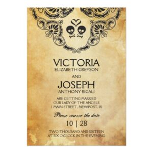 Halloween Gothic Wedding Invitation