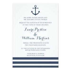 Modern Nautical Wedding Collection