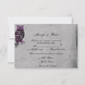 Purple Gothic Owl Posh Wedding