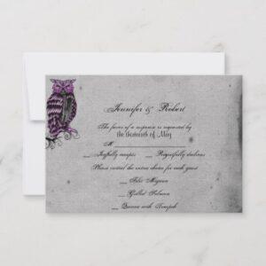 Purple Gothic Owl Posh Wedding