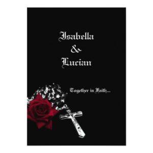 Gothic Roses Invitations