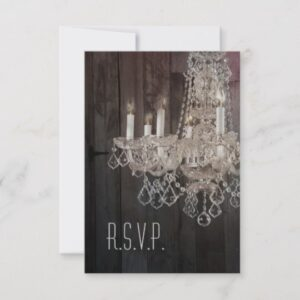 vintage chandelier Barn wood wedding collection