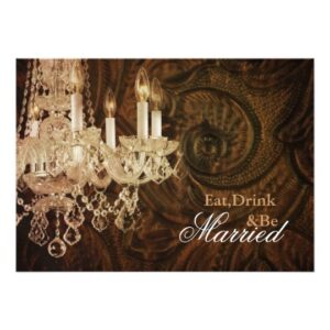 vintage chandelier western country wedding