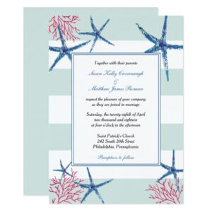 Starfish and Coral | Beach Wedding