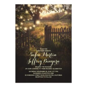 Country Tree Scene Rustic Wedding Collection
