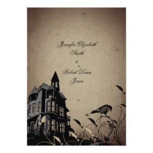 Vintage Gothic House Wedding