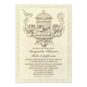 Vintage Bird Cage Wedding Collection