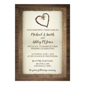 Wood, Burlap & Twine Heart Wedding Collection