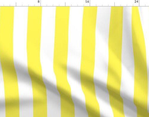 "Lemon Yellow 2"" Wide Cabana Stripes"