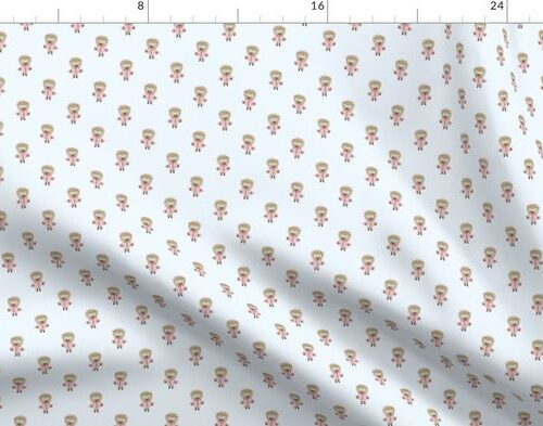 Hedgehog Forest Friends All-Over Repeat Pattern on Baby Blue