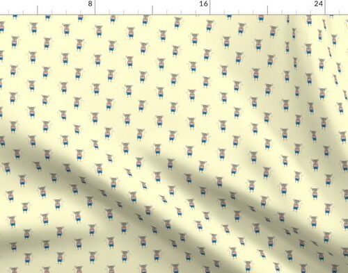 Mouse Forest Friends All Over Repeat Pattern in Lemon Yellow
