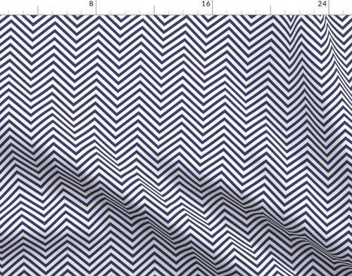 USA Flag Blue and White Wavy ZigZag Chevron Stripes
