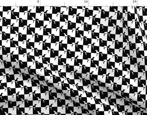 Black and White Weimaraners on Checkerboard