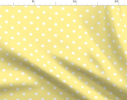 Buttermilk Yellow and White Polka Dots