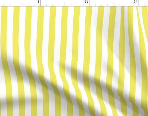 Citron and White Wide Stripes