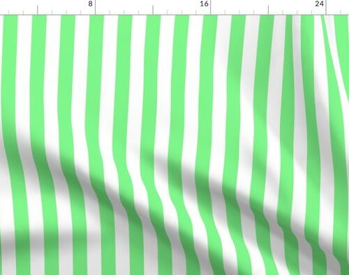 Apple-Green-and-White-Wide-Stripes