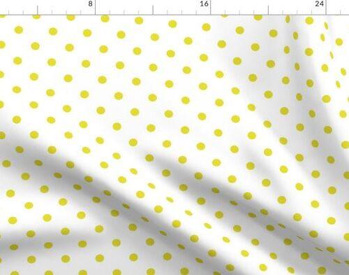 Meadowlark Yellow Polkadots on White