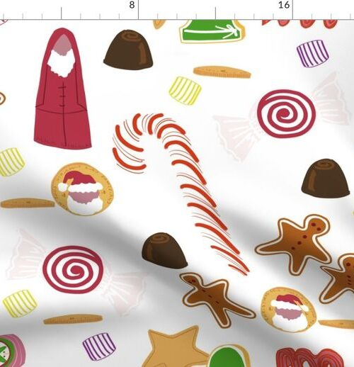 Christmas Sweeties Candies and Chocolates on White