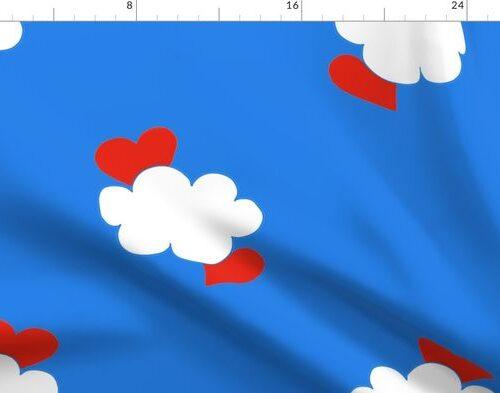 Cloud Hearts Blue Sky