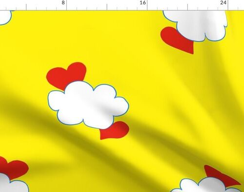 Cloud Heart Sunny Yellow Sky