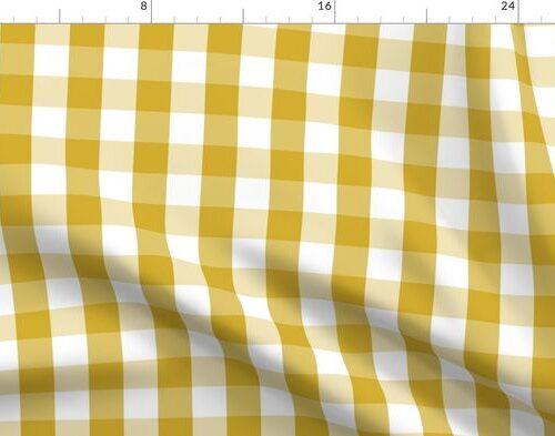 Primrose Yellow Mini Gingham Check Plaid