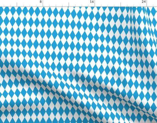 Oktoberfest Bavarian Blue and White Small Diagonal Diamond Pattern