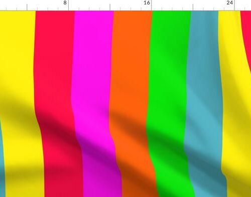 Neon Hawaiian Rainbow Cabana Stripes