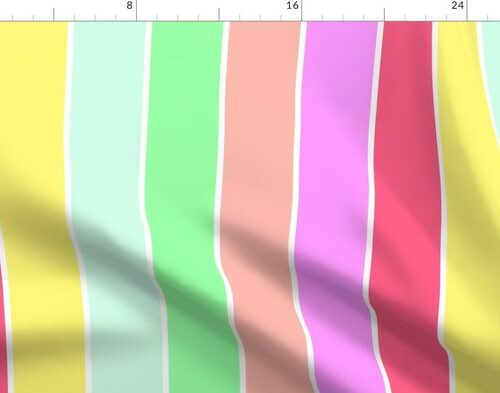 Pastel Rainbow Sorbet Deck Chair Stripes