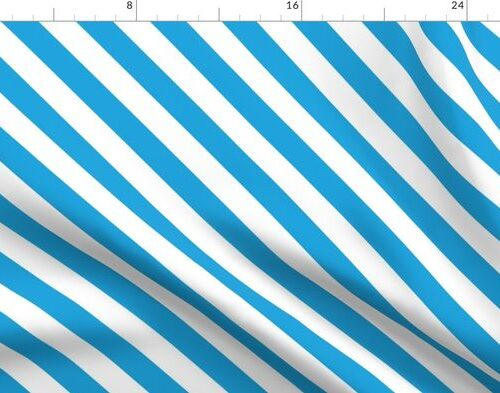 Oktoberfest Bavarian Blue and White Small Candy Cane Stripes