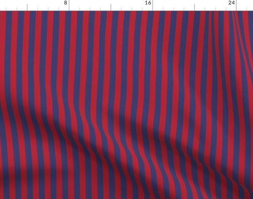 Small Red and Blue USA American Flag Vertical Stripes