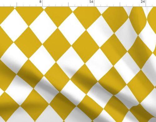 Antique Moss Yellow Modern Diamond Pattern