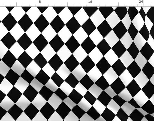 Black and White Small Modern Diamond Pattern