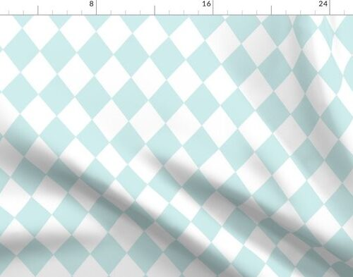 Blue Lily Small Modern Diamond Pattern